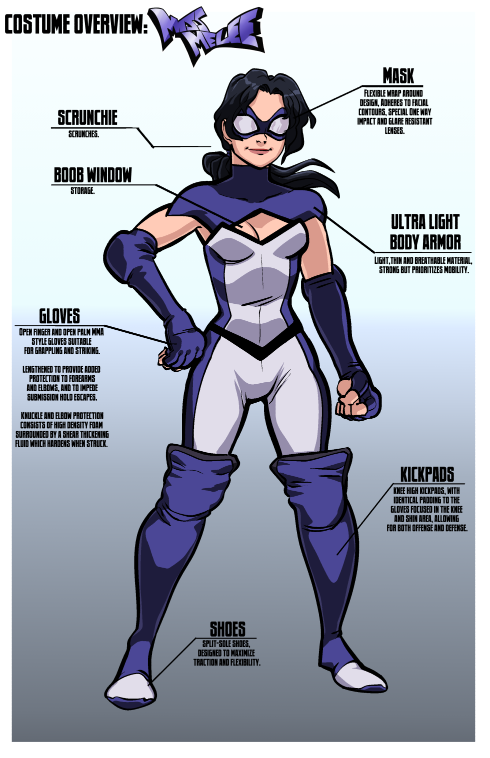 Costume Overview: Miss Melee
